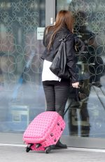 KYM MARSH on the Set of Coronation Street in Salford Quays in Manchester 03/22/2018