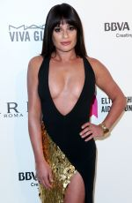 LEA MICHELE at Eton John Aids Foundation Academy Awards Viewing Party in Los Angeles 03/04/2018