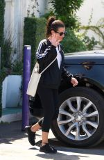 LEA MICHELE Leaves a Spa in Brentwood 03/24/2018
