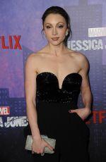 LEAH GIBSON at Jessica Jones Season 2 Premiere in New York 03/07/2018