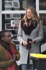 LEANN RIMES on the Set of Her New Christmas Movie in Vancouver 03/20/2018