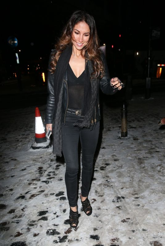 LEILANI DOWDING Arrives at Whiskey & Spears Launch at Shaku Zulu in London 02/28/2018