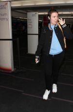 LENA DUNHAM at LAX Airport in Los Angeles 03/30/2018