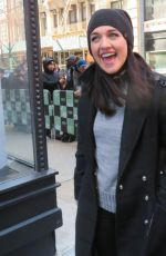 LENA HALL Arrives at Build Studio in New York 03/15/2018