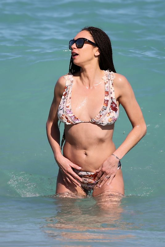LILLY BECKER in Bikini on the Beach in Miami 03/30/2018