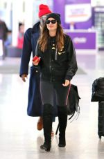LILY ALDRIDGE at Pearson Airport in Toronto 03/01/2018