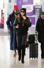 LILY ALDRIDGE at Pearson Airport in Toronto 03/01/2018
