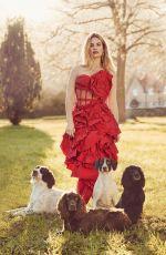 LILY JAMES in Harper's Bazaar Magazine, April 2018