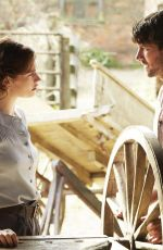 LILY JAMES - The Guernsey Literary and Potato Peel Pie Society Promos
