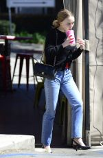 LILY-ROSE DEPP in Jeans Out in Los Angeles 03/18/2018