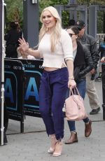 LINDSEY VONN on the Set of Extra in Universal City 03/07/2018