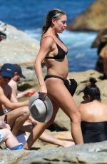 LISA CLARK in Bikini at Bondi Beach in Sydney 03/19/2018
