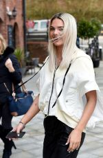 LOUISA JOHNSON Leaves Key 103 Radio in Manchester 03/23/2018
