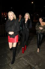LUCY and LYDIA CONNELL Arrives at Mahiki Nightclub in Kensington 03/30/2018