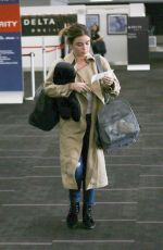 LUCY HALE at Los Angeles International Airport 03/30/2018