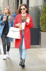 LUCY HALE Out in New York 03/08/2018