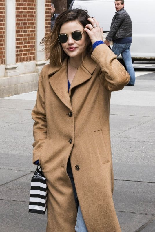 LUCY HALE Out Shopping on 5th Avenue in New York 03/05/2018