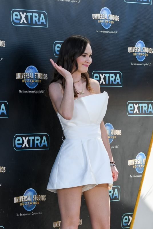 MADELINE CARROLL on the Set of Extra in Los Angeles 03/06/2018