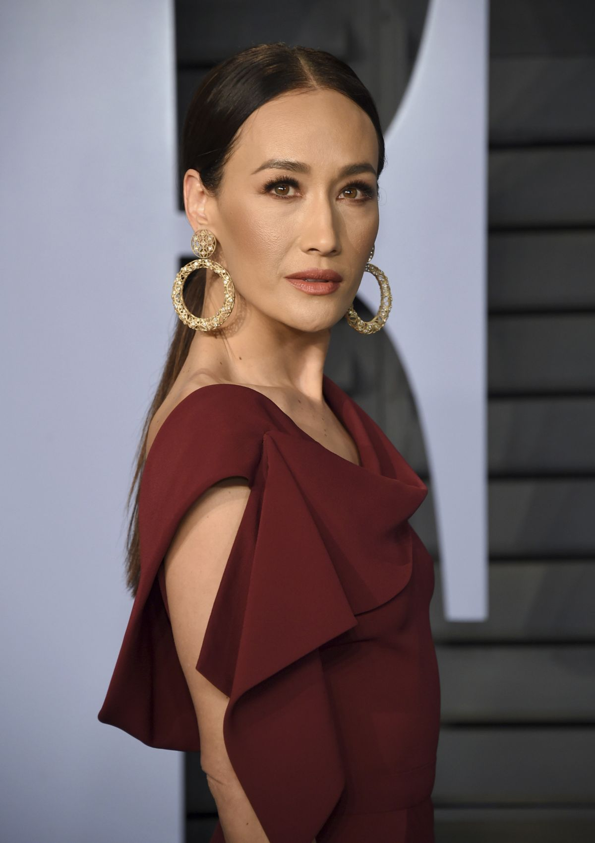 Maggie Q At 2018 Vanity Fair Oscar Party In Beverly Hills