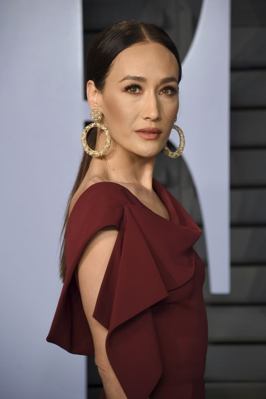 MAGGIE Q at 2018 Vanity Fair Oscar Party in Beverly Hills 03/04/2018