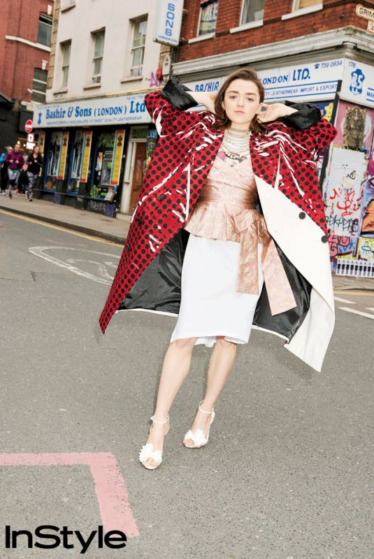 MAISIE WILLIAMS for Instyle Magazine, April 2018