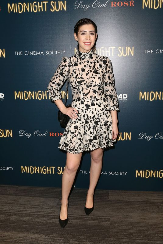 MALLORY SPARKS at Cinema Society & Day Owl Rose Host a Screening of Midnight Sun in New York 03/22/2018