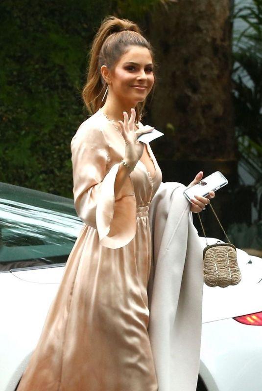 MARIA MENOUNOS Arrives at Khloe Kardashian