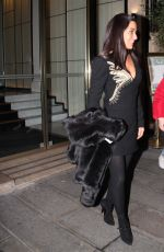 MARISOL NICHOLS Leave Her Hotel in Paris 03/30/2018