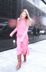MARTHA HUNT Arrives at Good Morning America in New York 03/08/2018