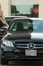 MARY CAREY at a Gas Station in Los Angeles 03/06/2018