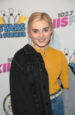 MEG DONNELLY at 2018 Stars & Strikes Celebrity Bowling in Studio City 03/22/2018