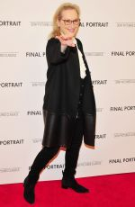 MERYL STREEP at Final Portrait Screening at Guggenheim Museim in New York 03/22/2018