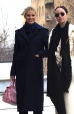 MICHELLE HUNZIKER and AURORA RAMAZZOTTI Out Shopping in Milan 03/19/2018