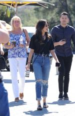 MICHELLE KEEGAN on the Set of Extra in Los Angeles 03/05/2018