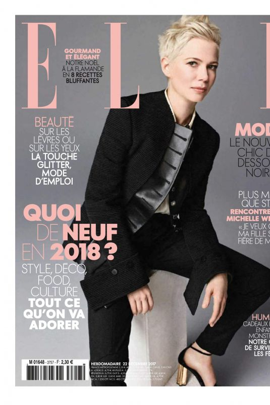 MICHELLE WILLIAMS in Elle Magazine, France January 2018