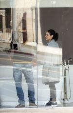 MILA KUNIS and Ashton Kutcher Out Shopping in Los Angeles 03/23/2018