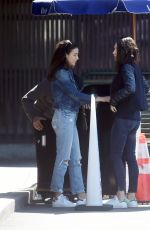 MILA KUNIS Our with a Friend in Los Angeles 03/26/2018