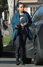 MILA KUNIS Out in Los Angeles 03/06/2018