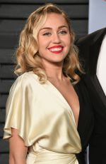 MILEY CYRUS at 2018 Vanity Fair Oscar Party in Beverly Hills 03/04/2018