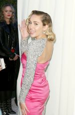 MILEY CYRUS at Eton John Aids Foundation Academy Awards Viewing Party in Los Angeles 03/04/2018