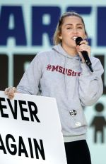 MILEY CYRUS at March for Our Lives in Washington, D.C. 03/24/2018