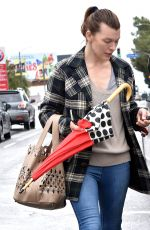 MILLA JOVOVICH Out and About in Los Angeles 03/22/2018