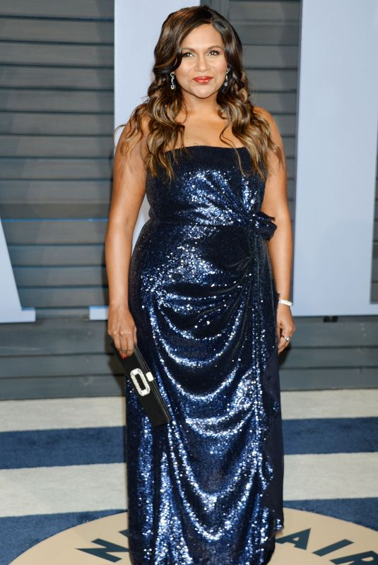 MINDY KALING at 2018 Vanity Fair Oscar Party in Beverly Hills 03/04/2018