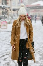 MOLLIA KING Out in a Snow Blizzard in London 02/28/2018