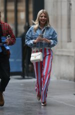 MOLLIE KING Arrives at BBC Radio in London 03/31/2018