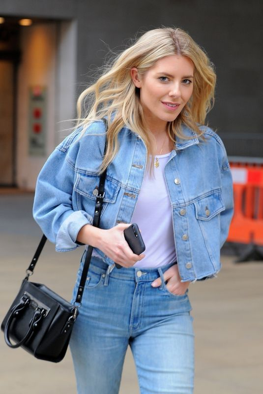MOLLIE KING in Jeans Leaving BBC Studios in London 03/22/2018