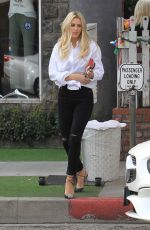 MORGAN STEWART Out for Lunch at The Ivy in West Hollywood 03/09/2018