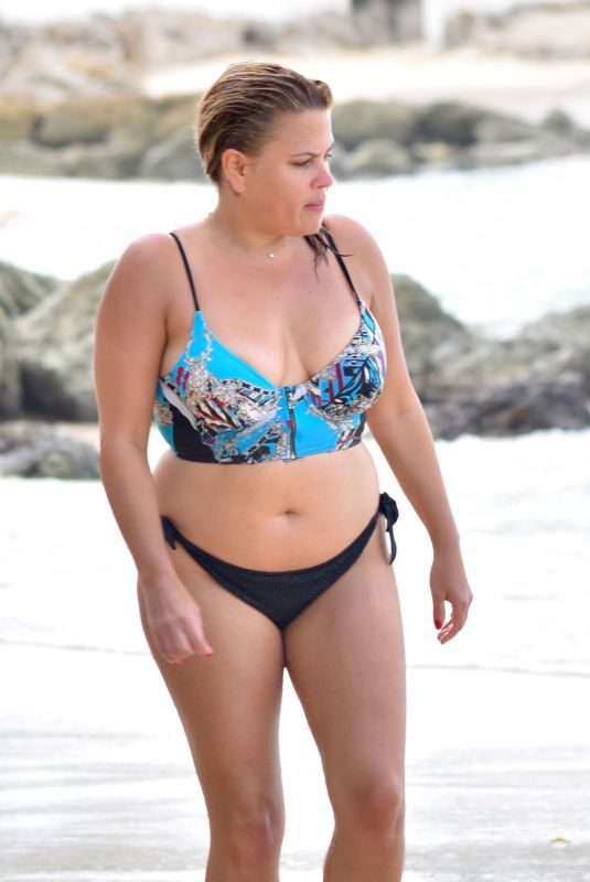 NADIA ESSEX in Bikini at a Beach in Barbados 03/16/2018