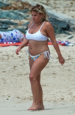 NADIA ESSEX in White Bikini at a Beach in Barbados 03/18/2018