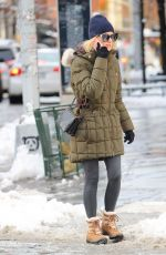 NAOMI WATTS Out on Snow Filled Streets in New York 03/22/2018